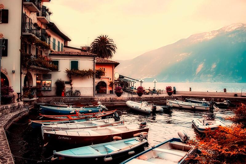 Gardameer merengebied Italië