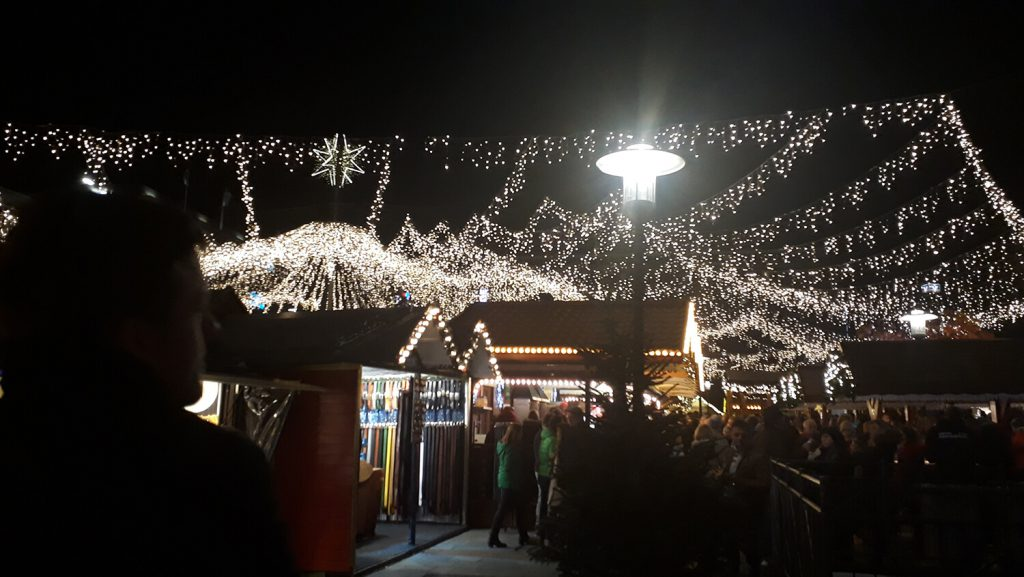Kerstshopping in Essen in Duitsland